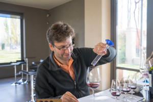 Argentina - Mixing wine in Mendoza